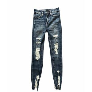 AE High Waisted Distressed Skinny Jeans
